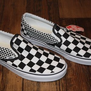 Vans Mix Checker Classic Slip On Men Size 10.5